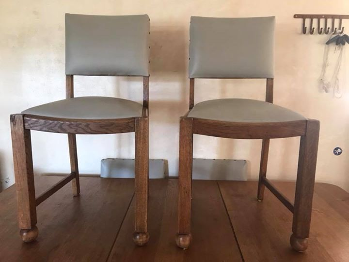 6 x Solid Oak Chairs