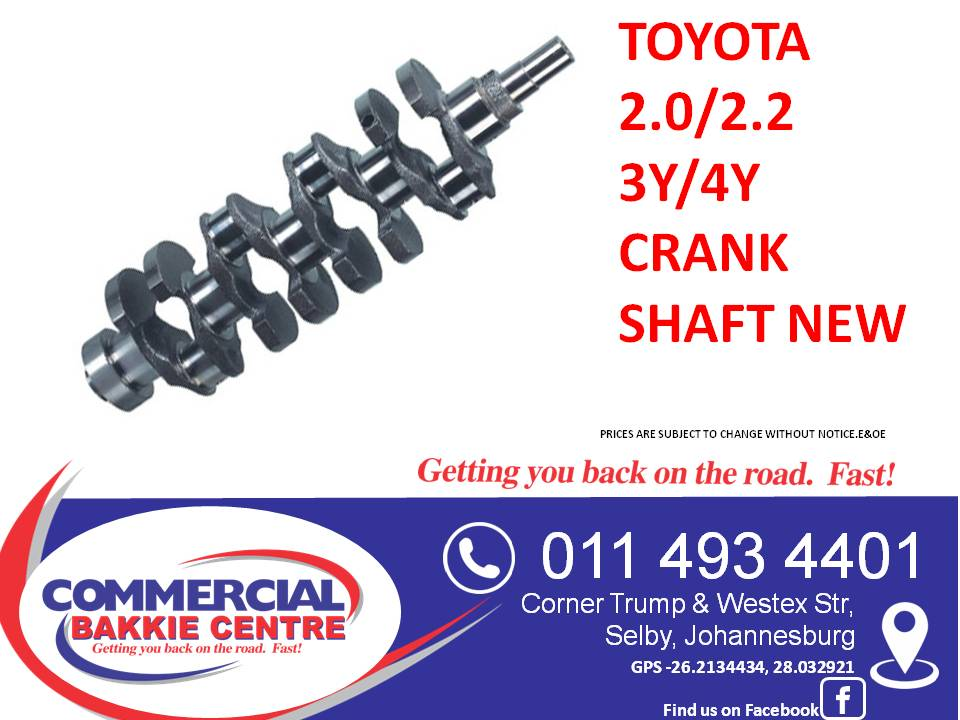toyota 2.2 4y crank shaft new
