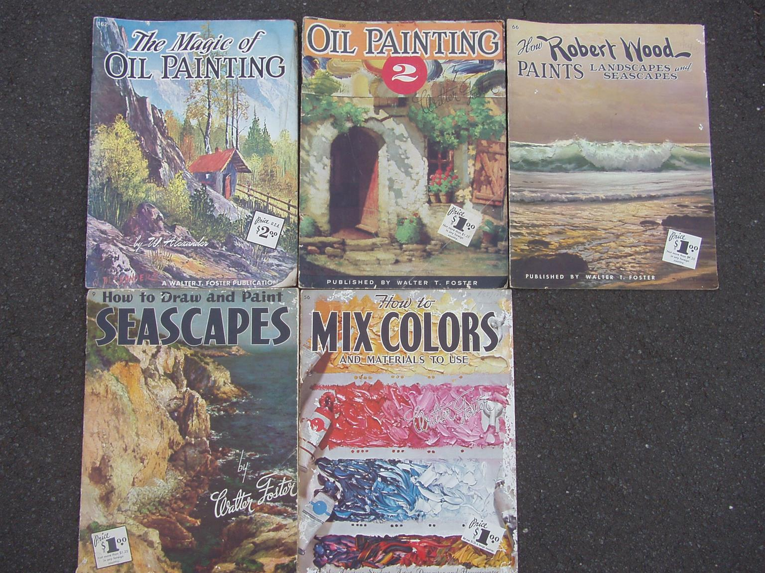 "Vintage ""Oil Painting"" by Walter T Foster- 5 books"