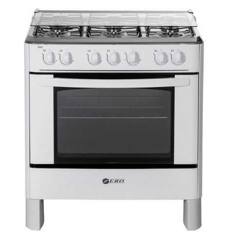 Zero 6 Burner White Gas Stove and Oven - New with full 1 Year Factory warranty