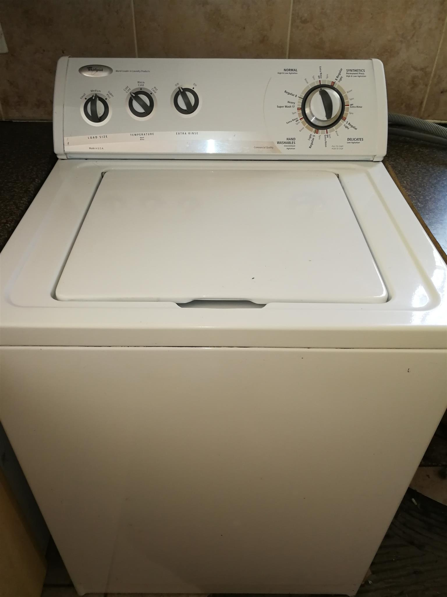 Whirlpool 13 kg top loader