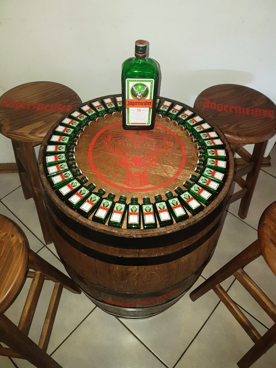 Wine Barrel and chair combo (Personalized)