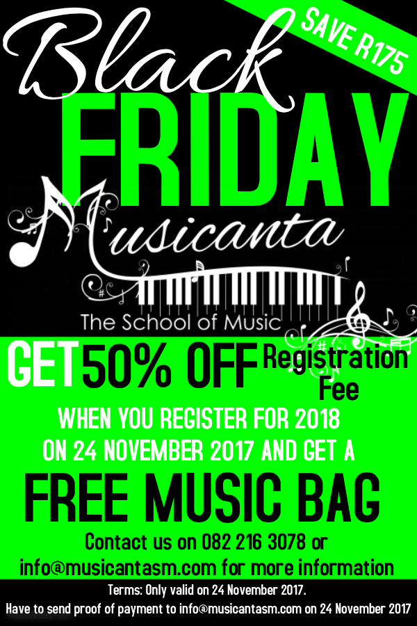 Black Friday at Musicanta The School of Music