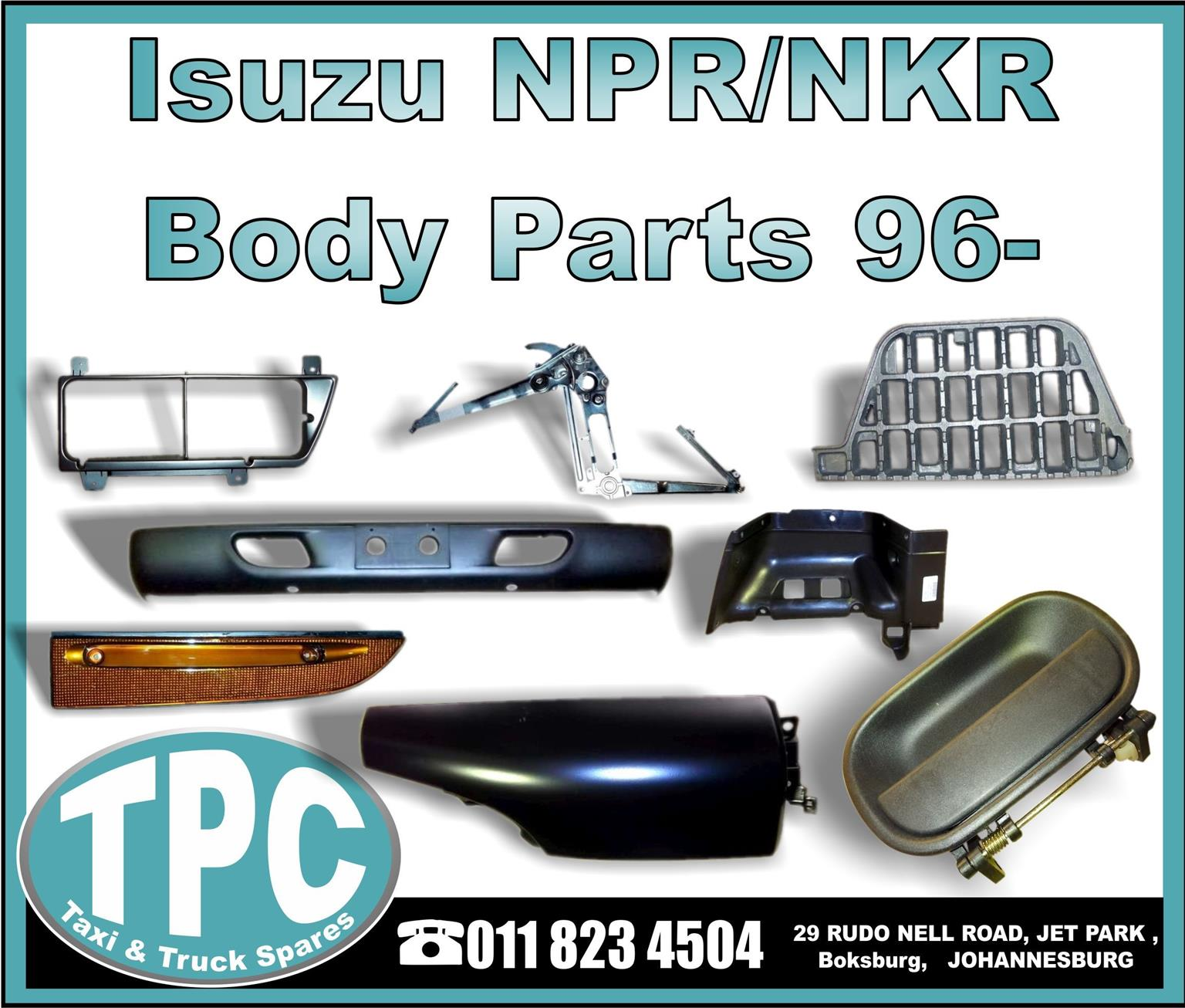 Isuzu NPR/NKR 96  Body Parts   New Replacement Parts