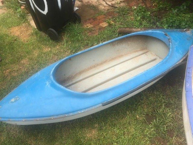 Blue canoe for sale