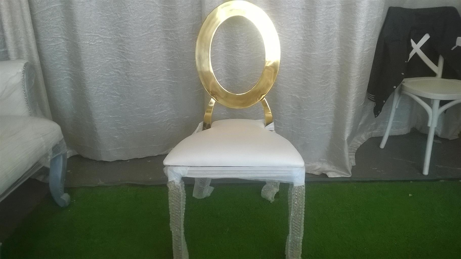 NEW GOLD ROUNDBACK CHAIRS FOR SALE AT WHOLESALE PRICES.