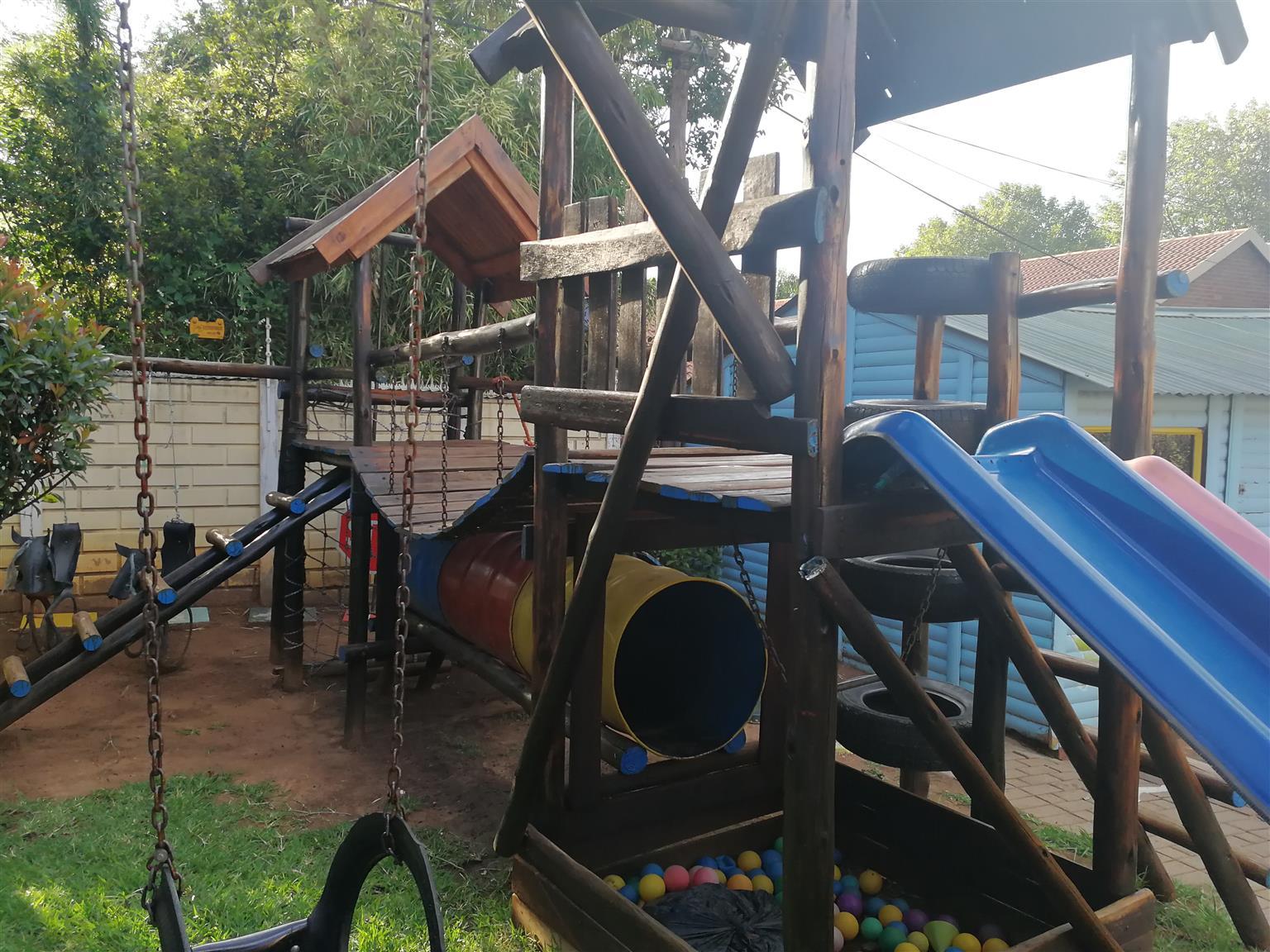 Wooden jungle gym for sale urgent sale