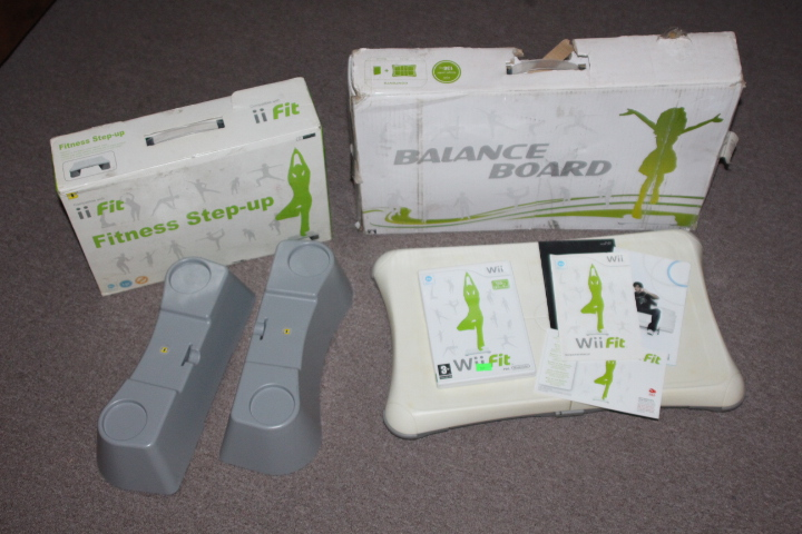Wii balance board with Wii fit game