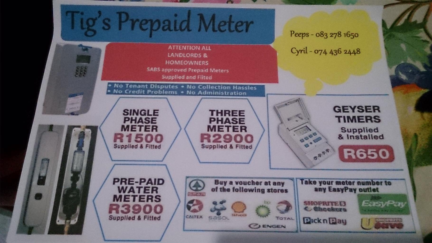 Tigs Prepaid meters