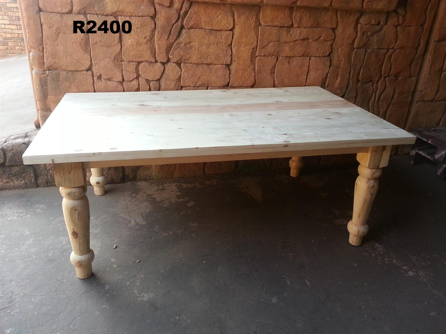 8 Seater Solid Pine Farmstyle Table (2000x1200)