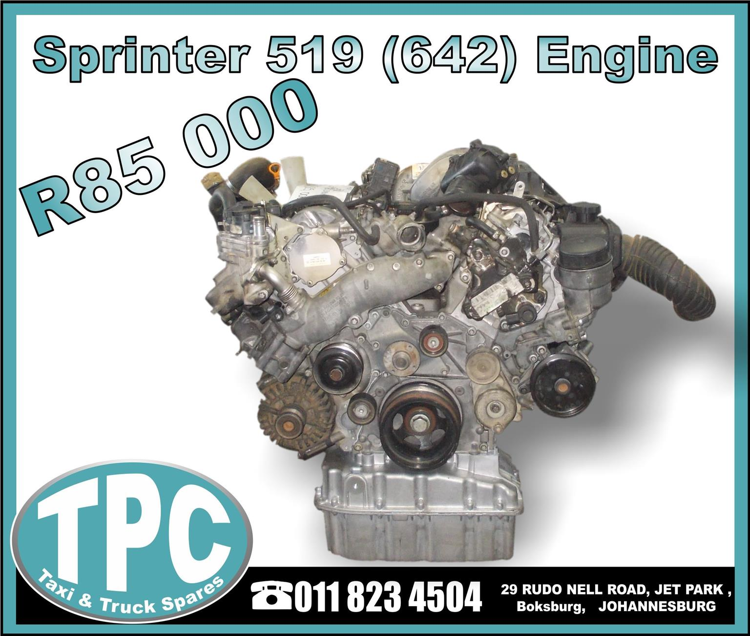 Sprinter 519 (642) Engine - Used Replacement Parts.