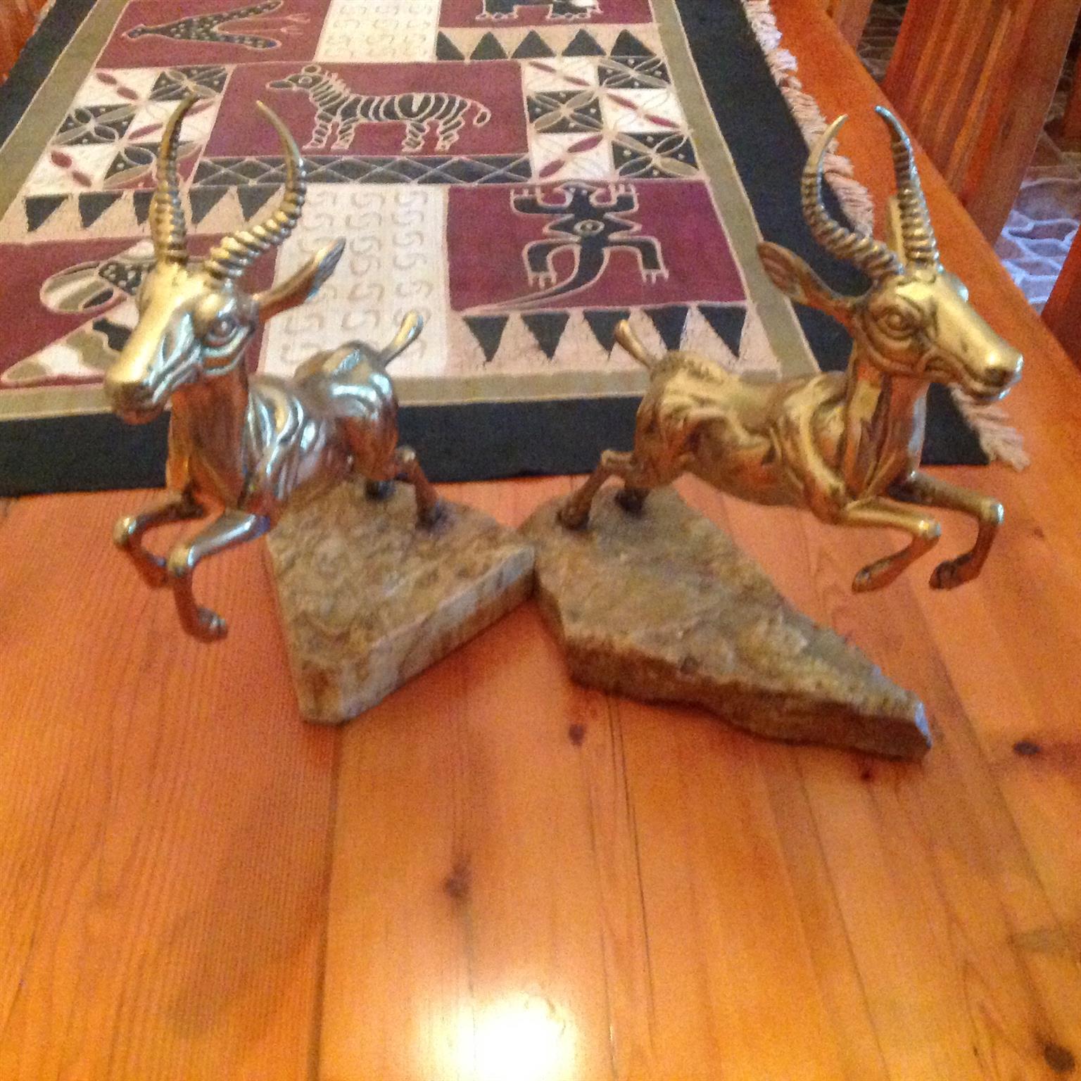 Antique Brass Prancing Springbok Circa1937
