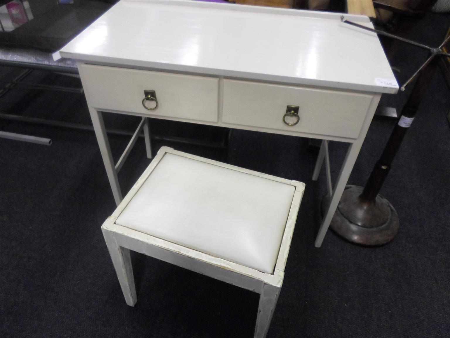 Wooden 2 Drawer Dressing Table -