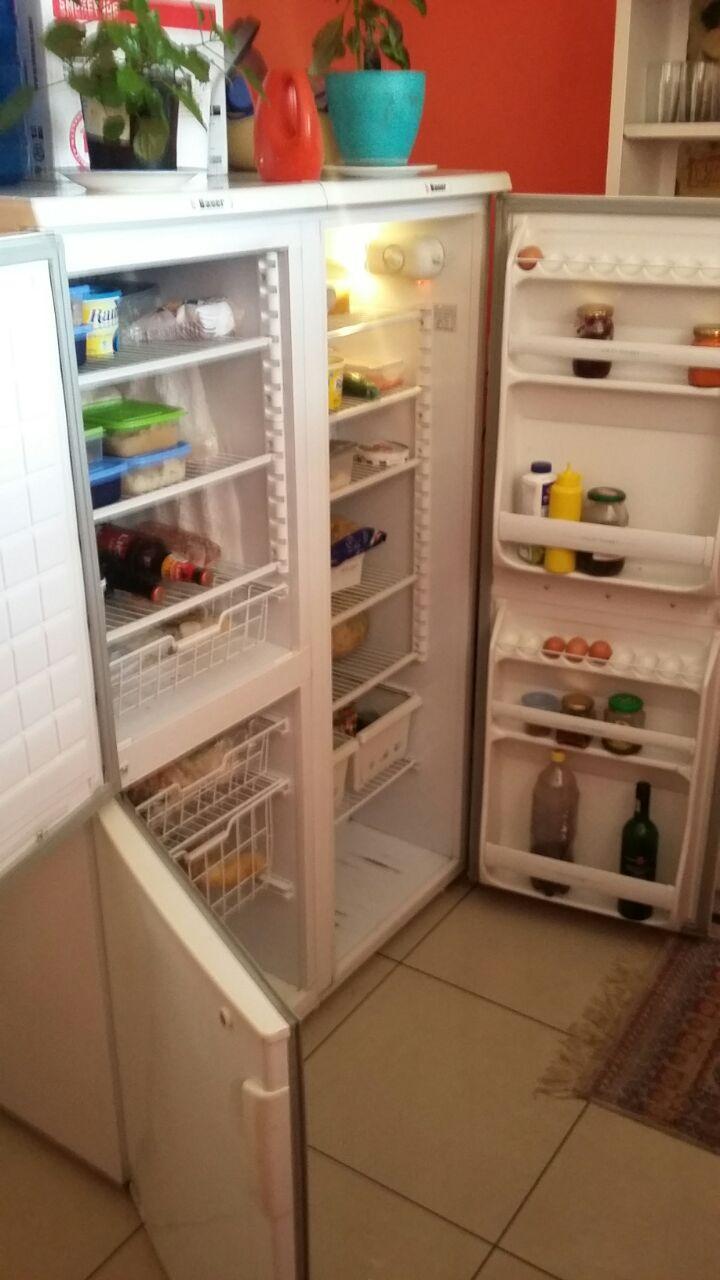 Double door fridge - Bauer