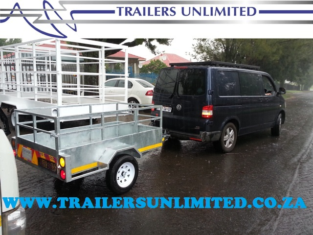 TRAILERS UNLIMITED HOT DIPPED GALVANIZED UTILITY TRAILER.
