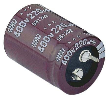 Capacitor Aluminium Electrolytic 100uf 450V snap-in +105deg.C