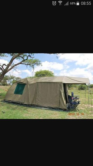 Senior Villa dome tent met extension