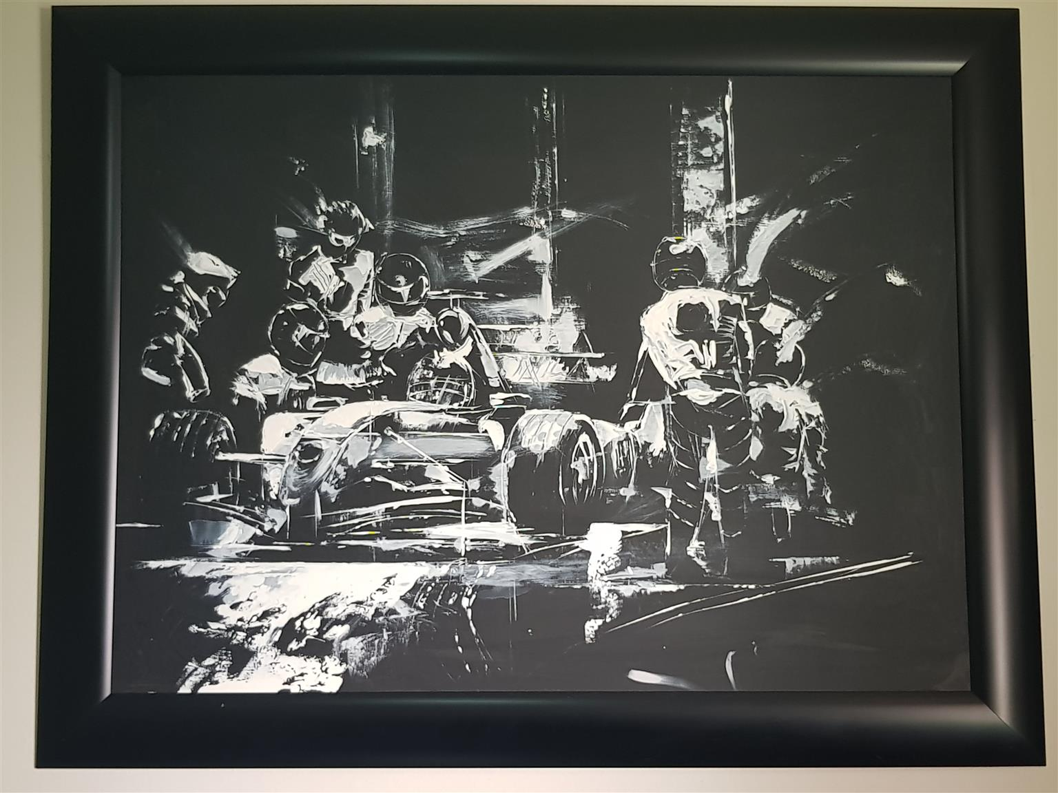 Original Formula 1 paintings in frame