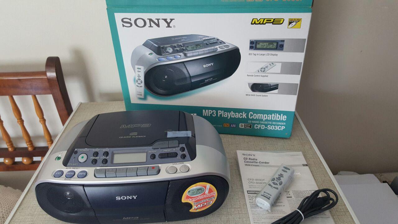 Sony MP3 / CD-R/RW Playback Radio For Sale