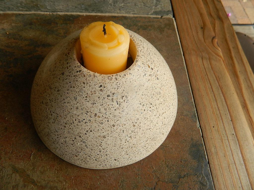 Granite Candle Holder