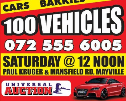 Our vehicle auctions take place every Saturday at 12:00
