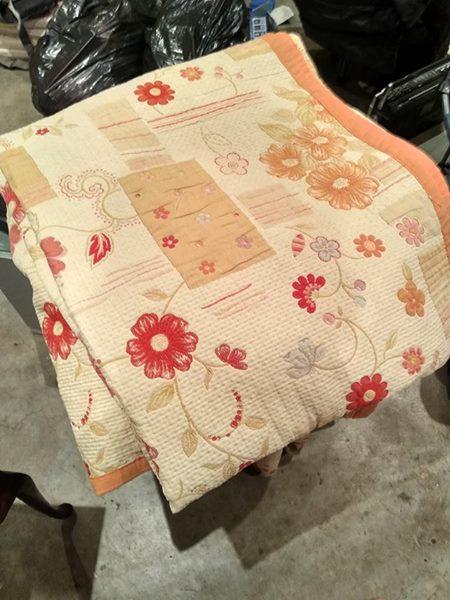 Queen size bed throw