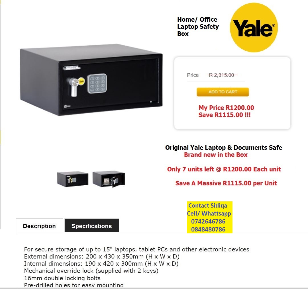 Yale Home / Office Safes (Brand New)