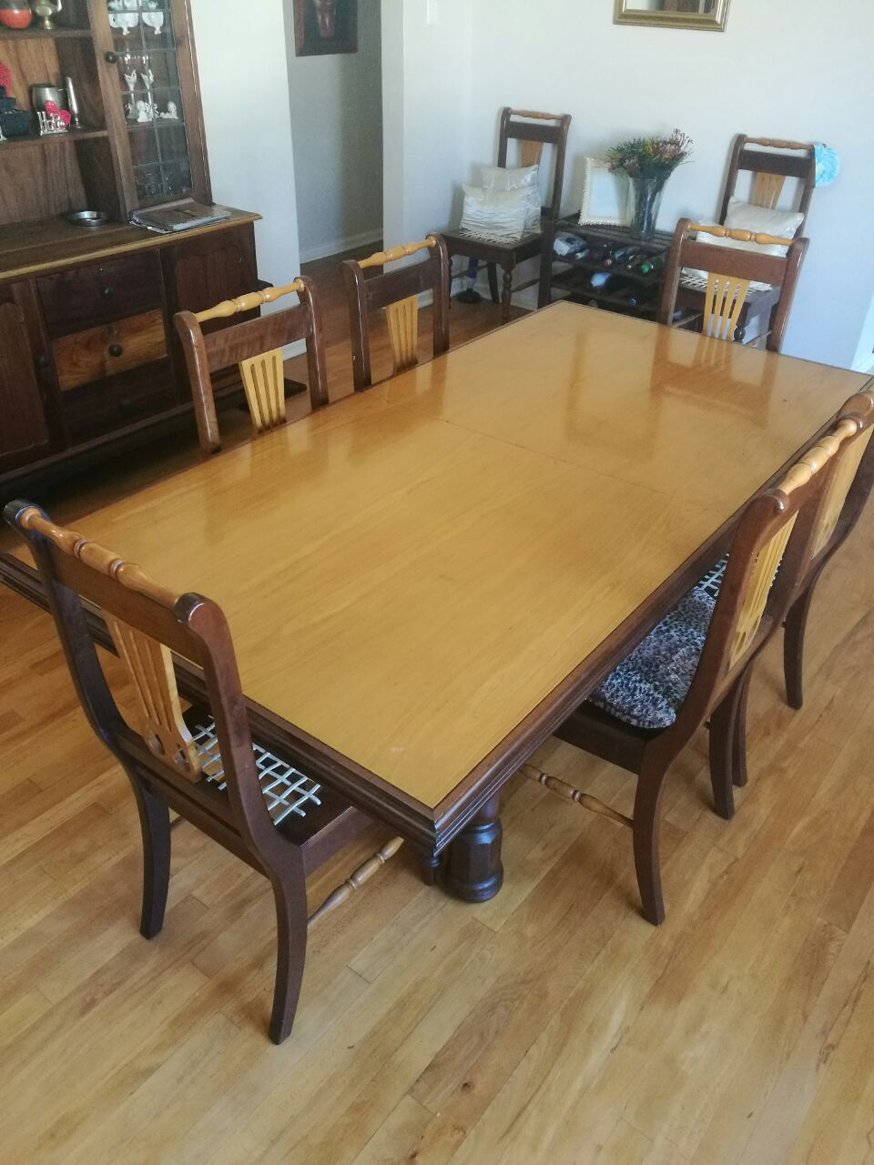 Yellowwood And Blackwood Dining Room Set