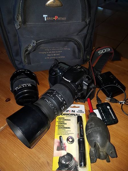Canon 20D camera and sigma lenses