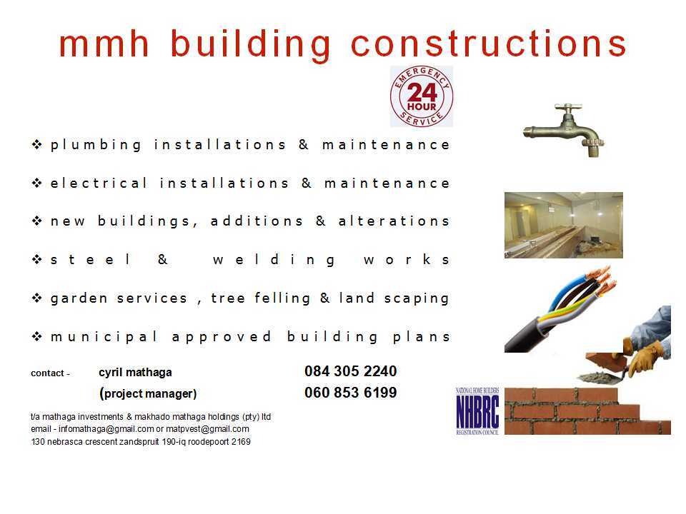 Building Constructions and Maintenance