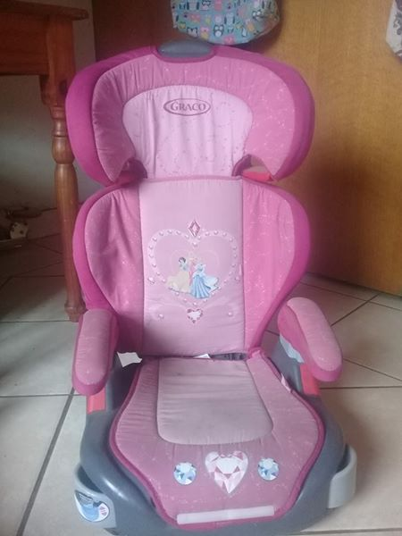 Pink Princess Graco Toddler Booster Car Seat