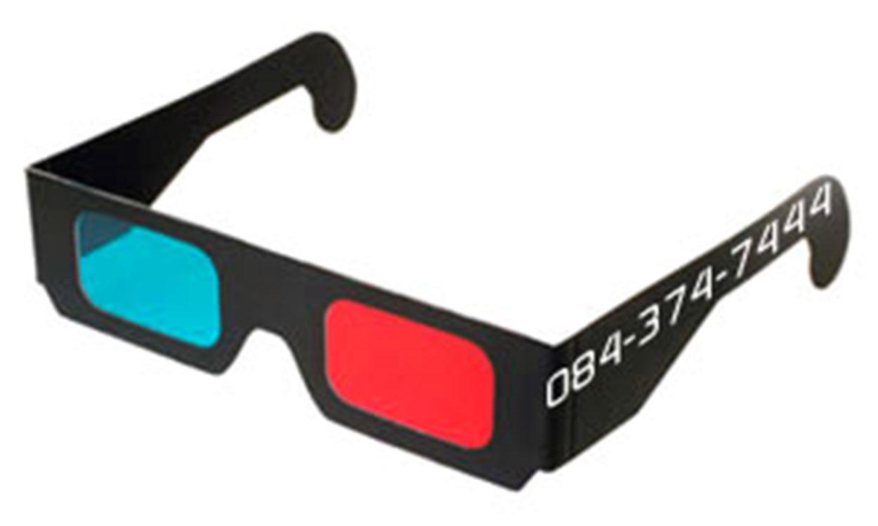 3D Red Cyan Glasses - Anaglyph Black Cardboard (10 Packs) R260 - 0843747444