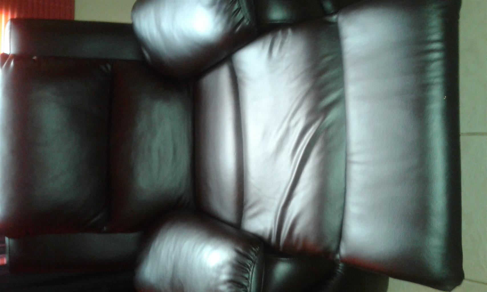 Brown Genuine Leather Recliner