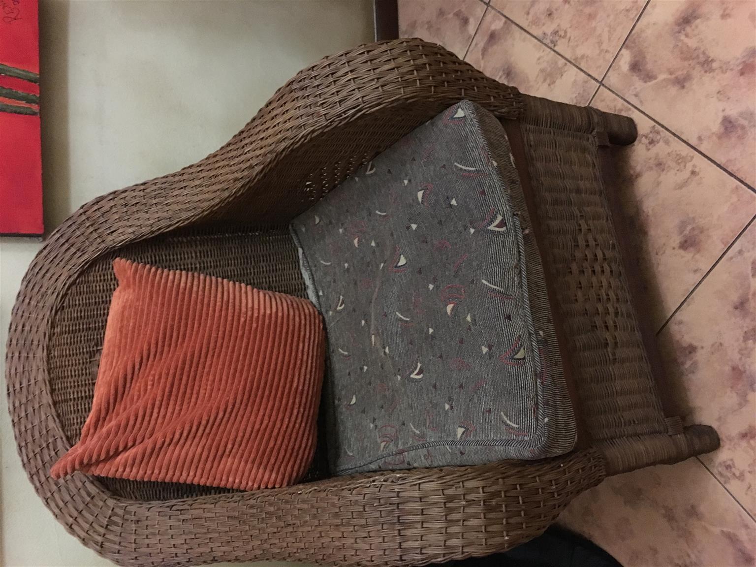Patio chair and cushion