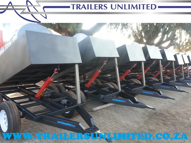 TRAILERS UNLIMITED. WATER TANK TIPPER TRAILERS.