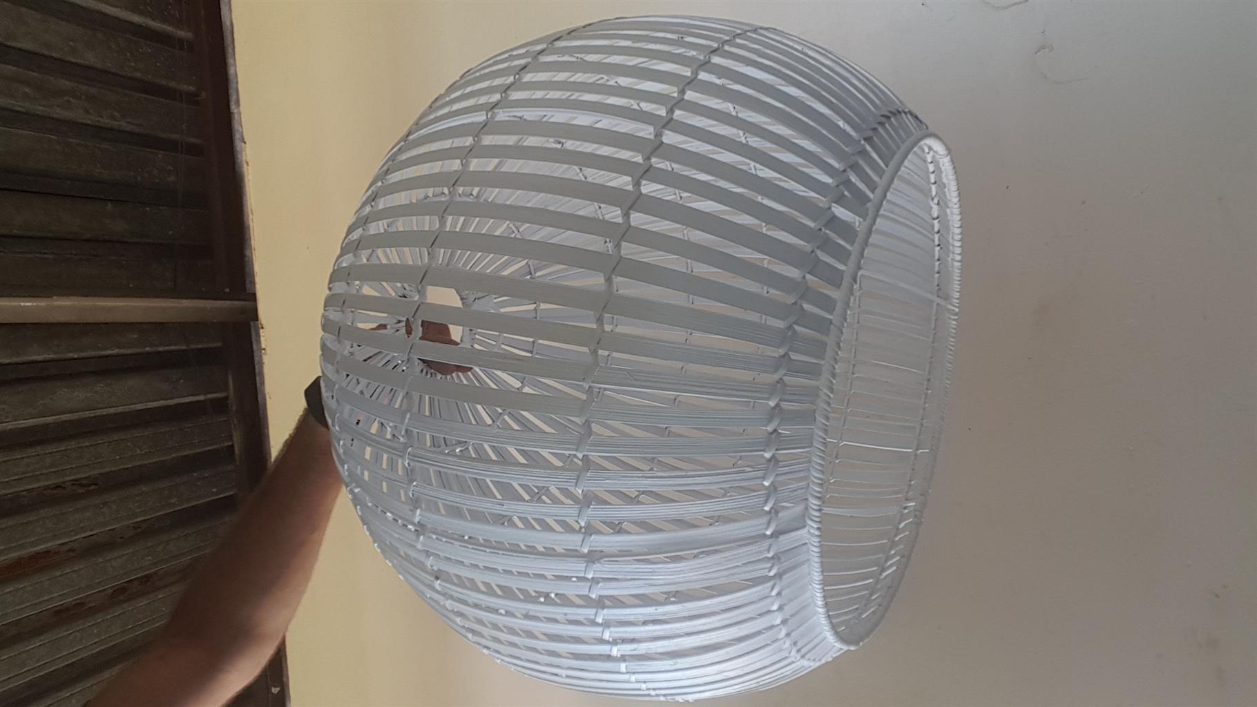 Original White Bamboo light cover.