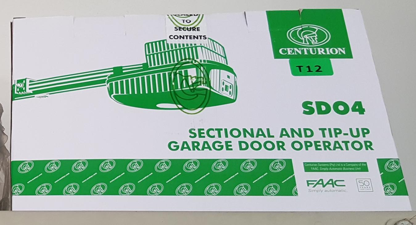 Garage Door Motors Centurion SDO4 New Kit