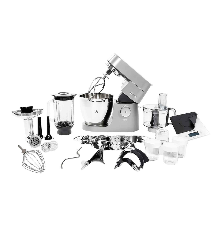 Kenwood Platinium mixer with appliances