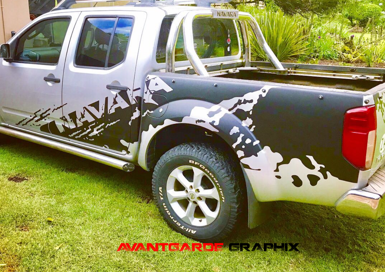 NISSAN NAVARA DECALS (BODY STICKERS)