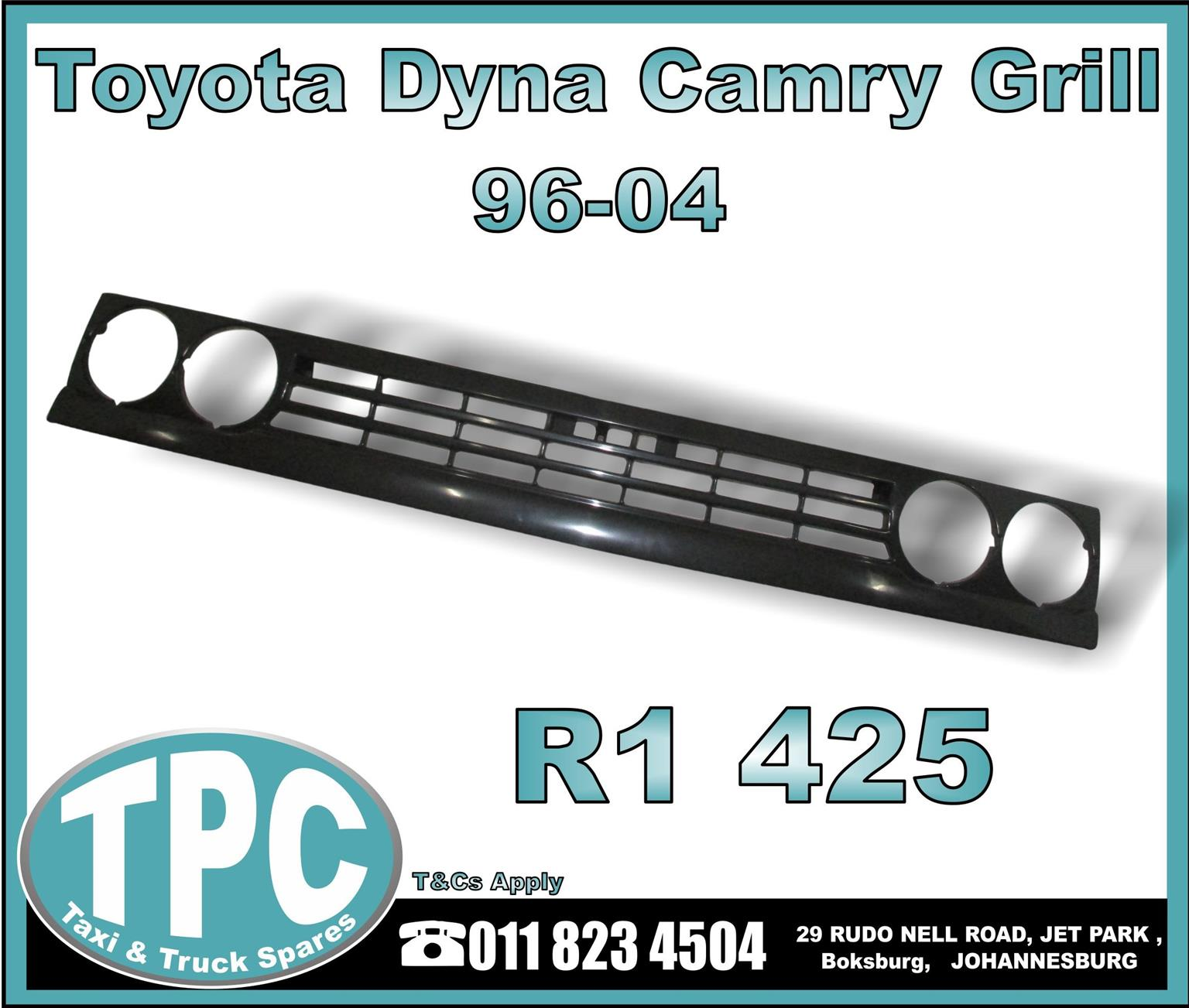 Toyota Dyna Camry Grill - 96-04 - New Replacement Truck Parts - TPC.