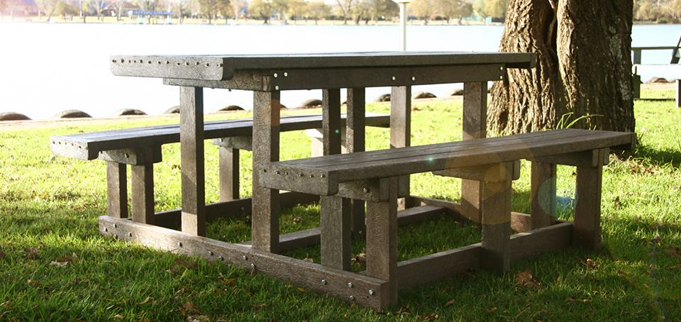 Picnic tables and benches