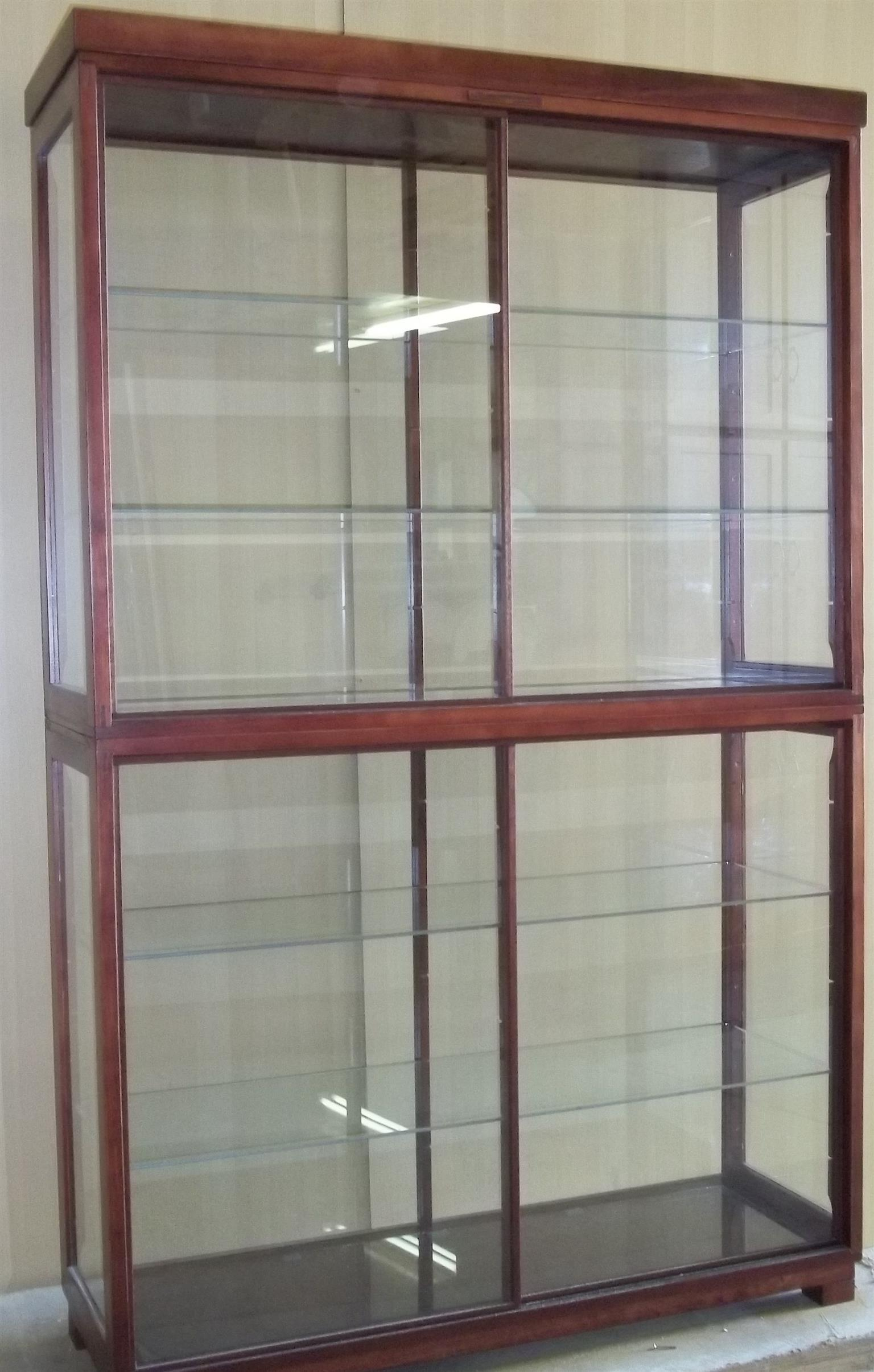 """Glass """"Display Cabinets Custom made, - All-round Glass Display/Show Cabinet  with Unrestricted view. Dust Proof !"""