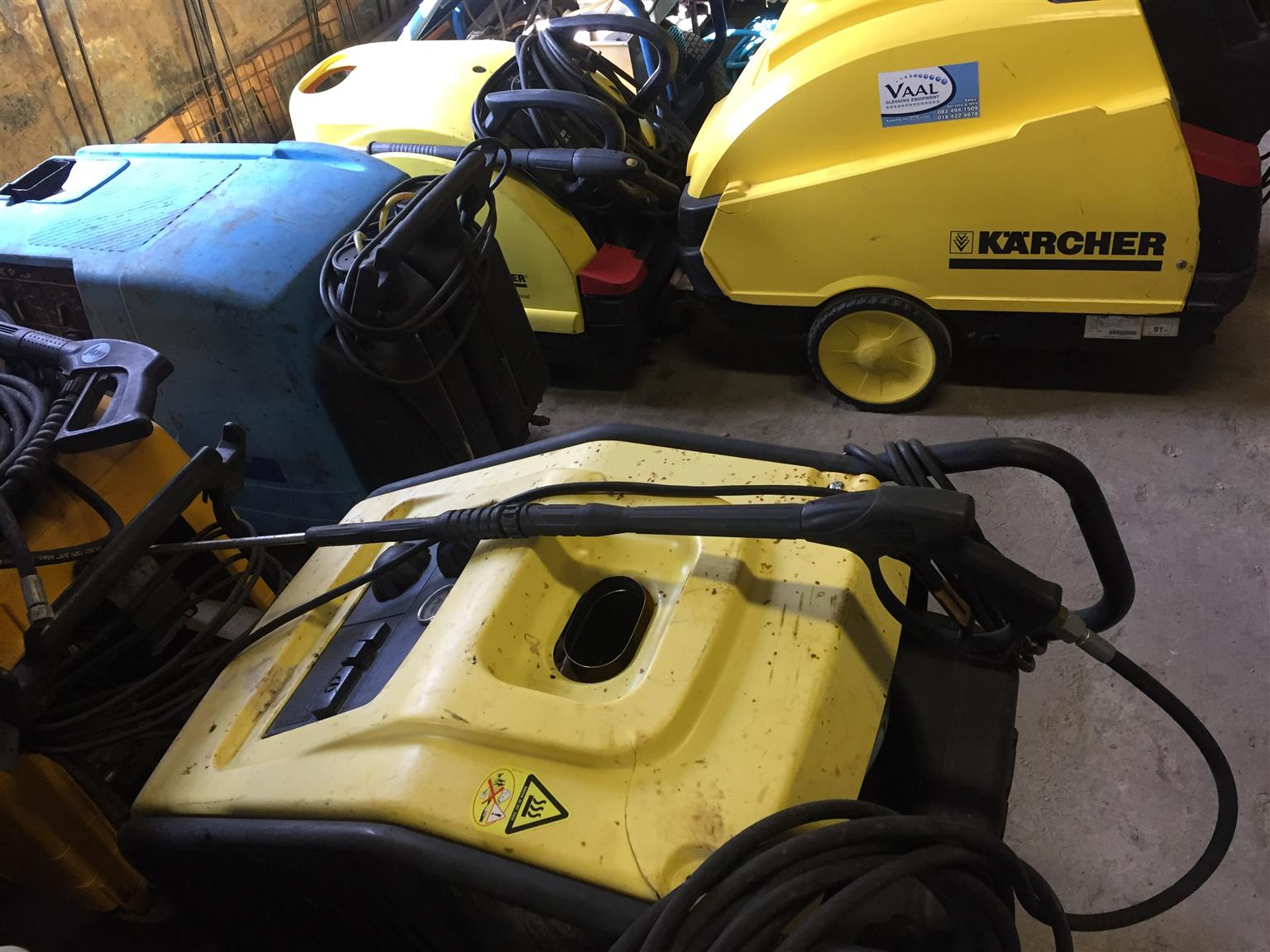 Industrial Hot and Cold water high pressure washers to Rent: