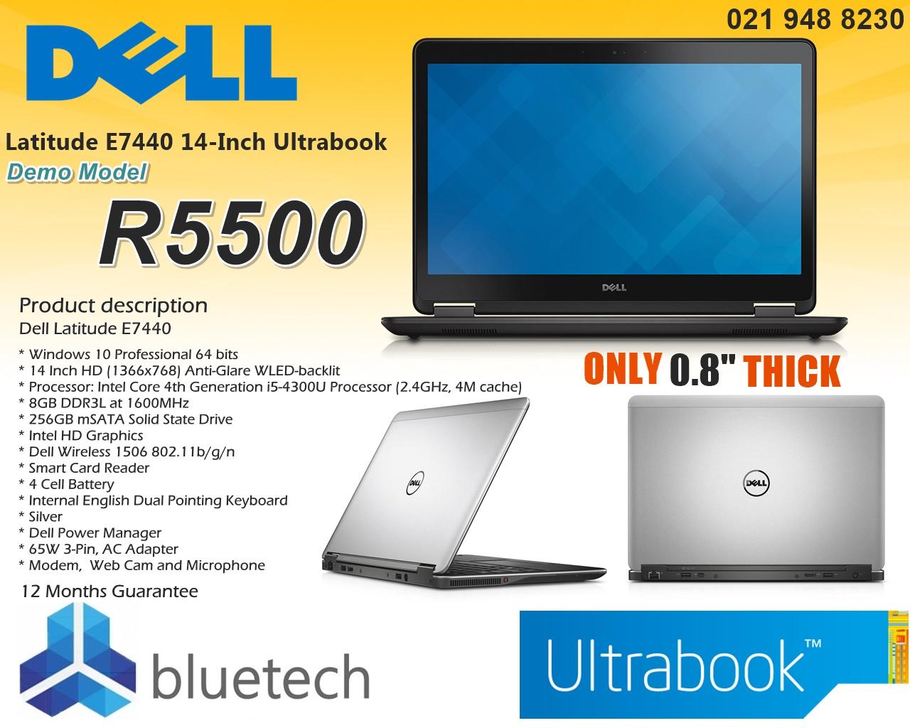 Demo Dell Latitude E7440 - Core i5, 8GB RAM, 256GB SSD, Win 10 Pro,  Bluetech Computers 021 948 8230 | Junk Mail
