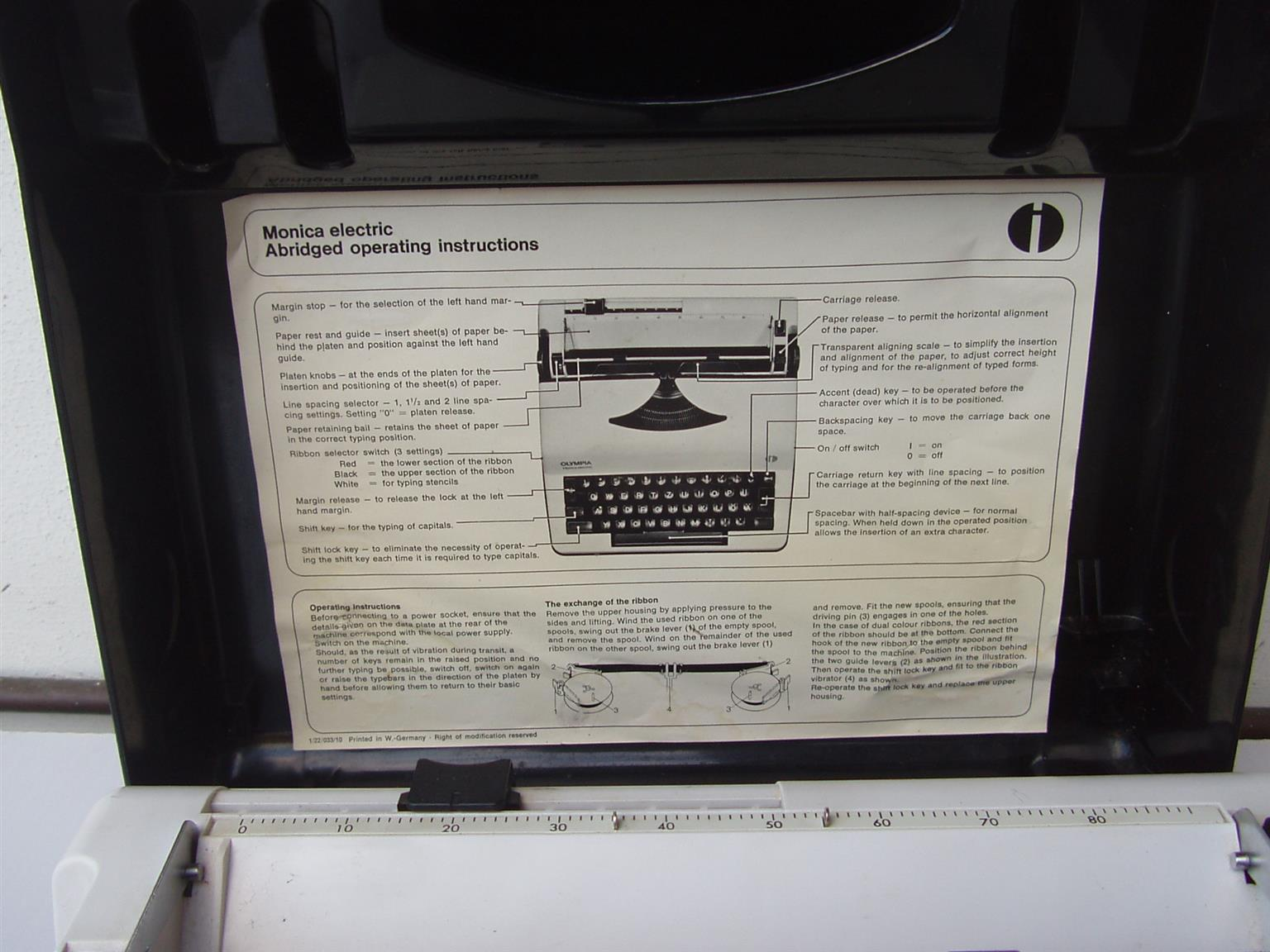 Olympia Electronic Typewriter -Monica -  in excellent working order -in original carry case