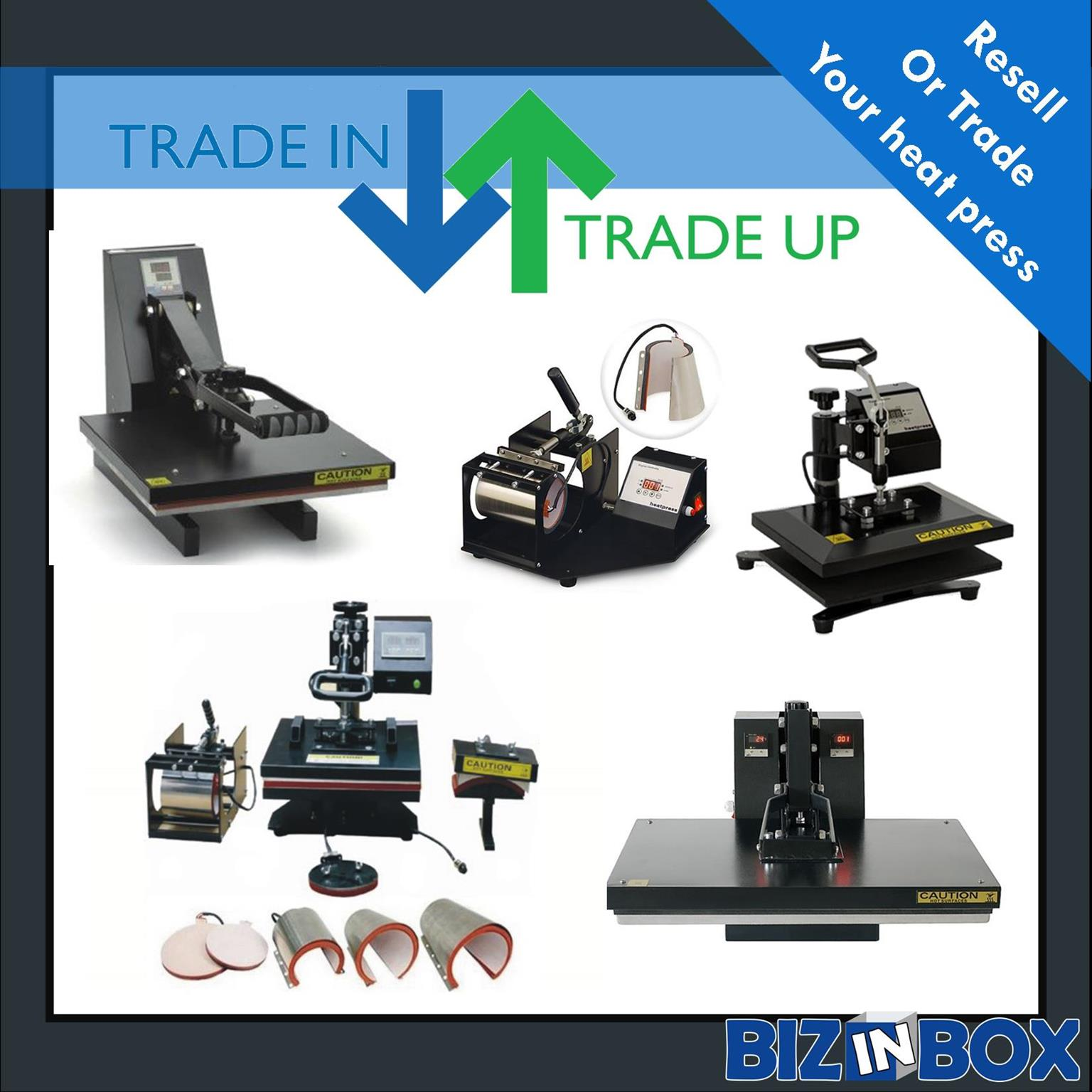 Do you want to trade in or sell your second hand heat press for larger heat press