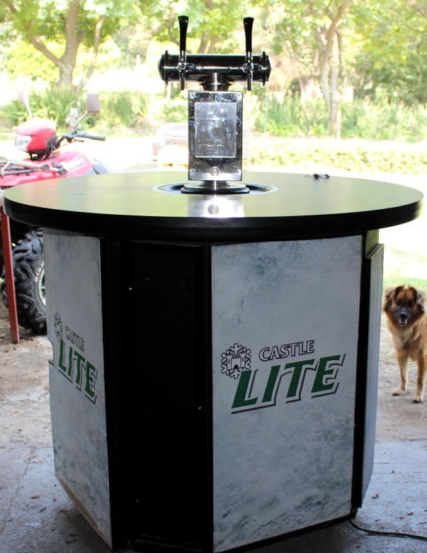 Imported mobile draft beer table