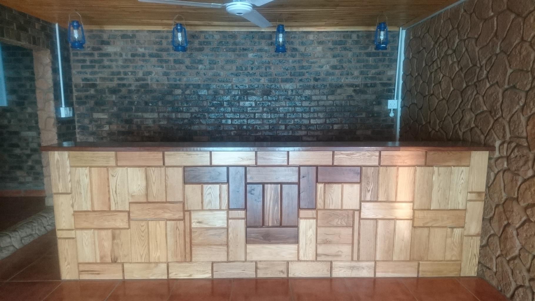 Oak wood bar