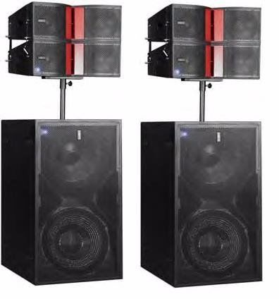 Audiocentre Combo1 Powered Speaker Set,check Description for inluded components.
