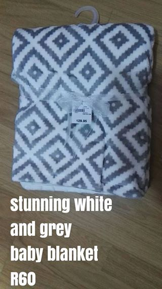 White and Grey Baby Blanket
